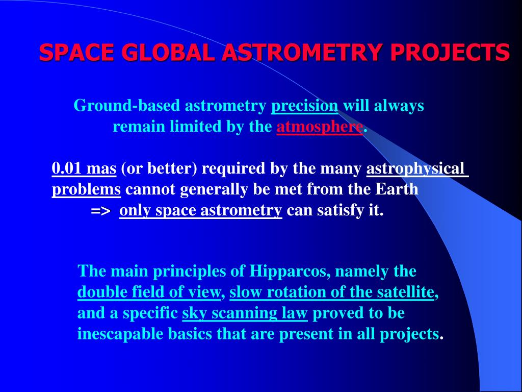 SPACE GLOBAL ASTROMETRY PROJECTS