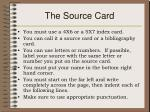 the source card