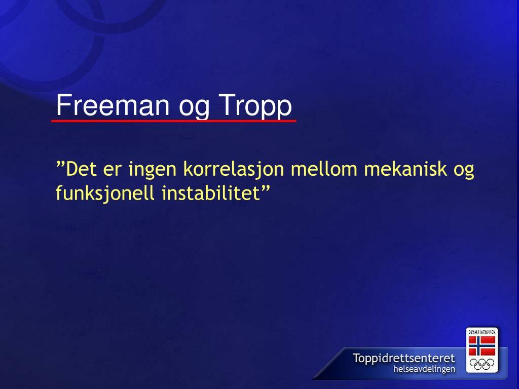 Freeman og Tropp