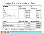 example for a four reactor plant