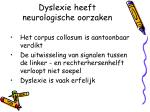 dyslexie heeft neurologische oorzaken