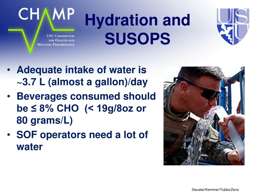 Hydration and SUSOPS
