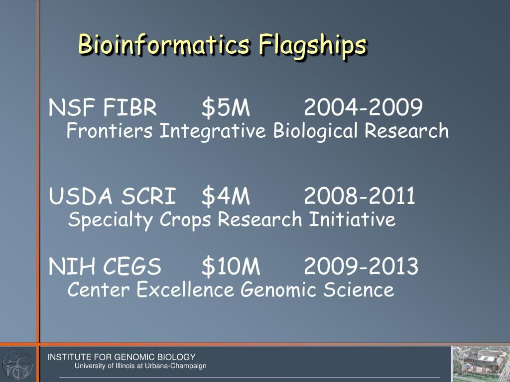 Bioinformatics Flagships