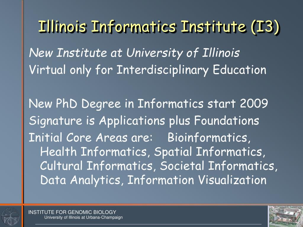 Illinois Informatics Institute (I3)