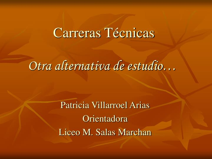 Carreras t cnicas otra alternativa de estudio