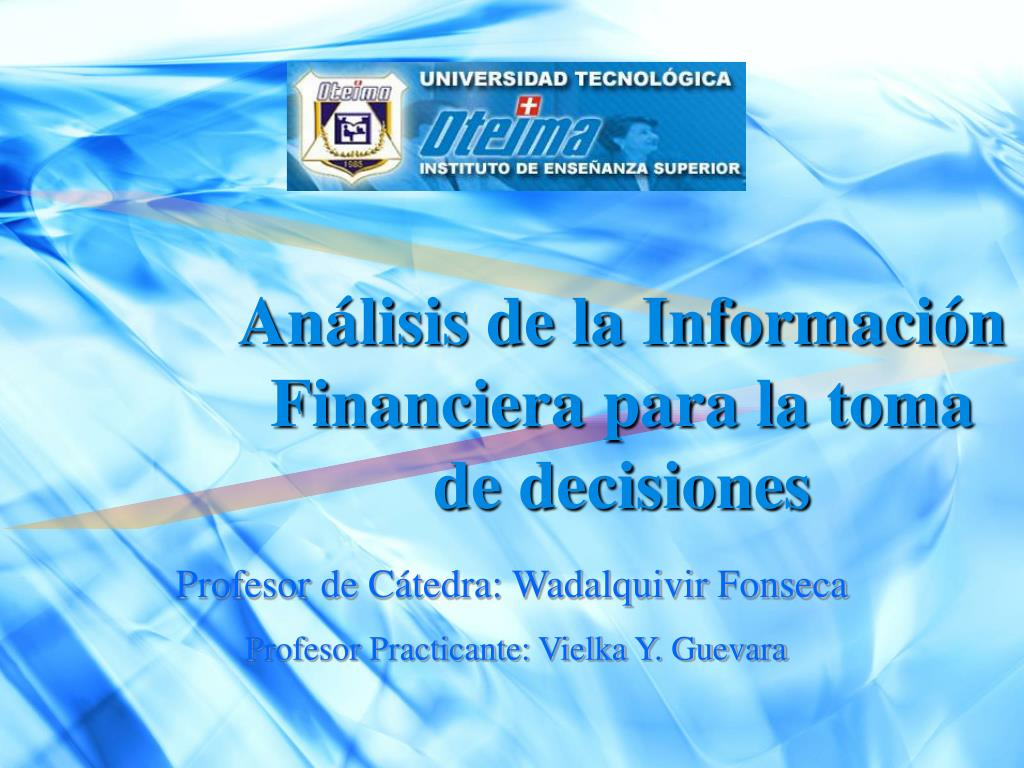 an lisis de la informaci n financiera para la toma de decisiones