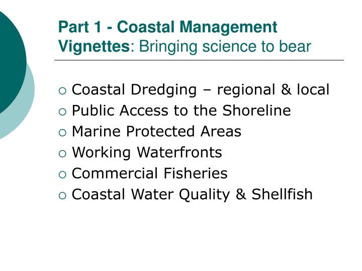 Part 1 - Coastal Management Vignettes