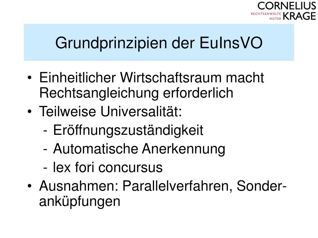 Grundprinzipien der EuInsVO