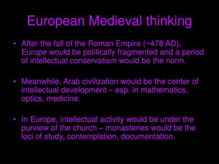 European Medieval thinking