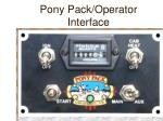 pony pack operator interface