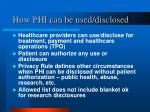 how phi can be used disclosed