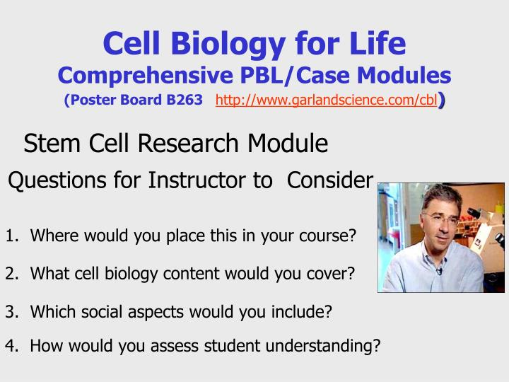 Cell Biology for Life