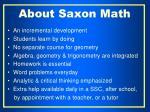about saxon math