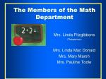the members of the math department