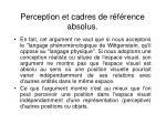 perception et cadres de r f rence absolus2