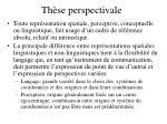 th se perspectivale