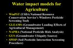 water impact models for agriculture5