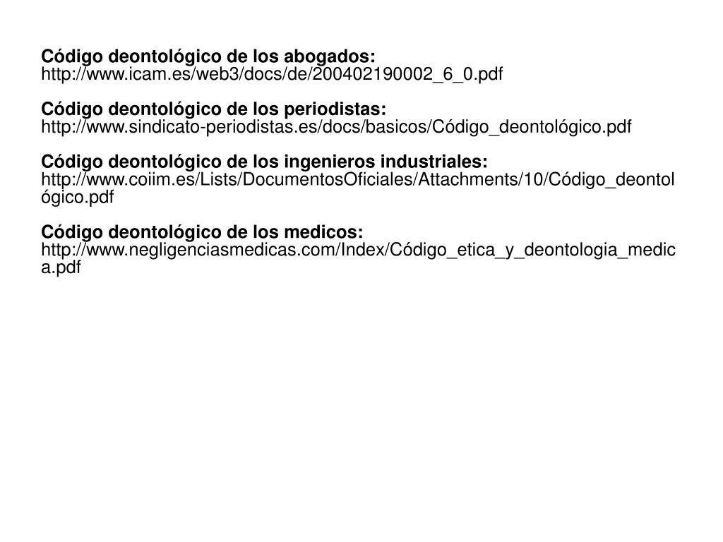 Código deontológico de los abogados:
