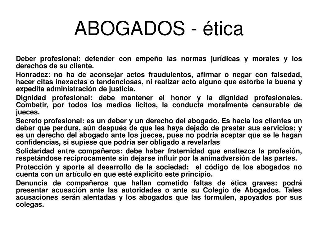 ABOGADOS - ética
