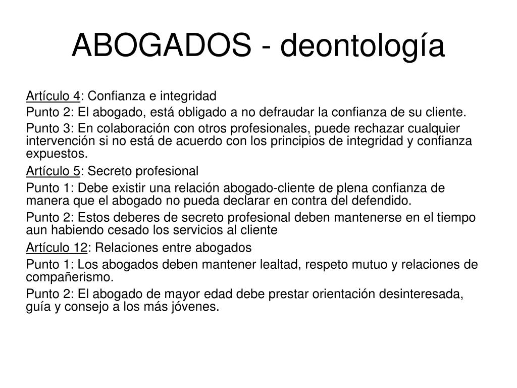 ABOGADOS - deontología