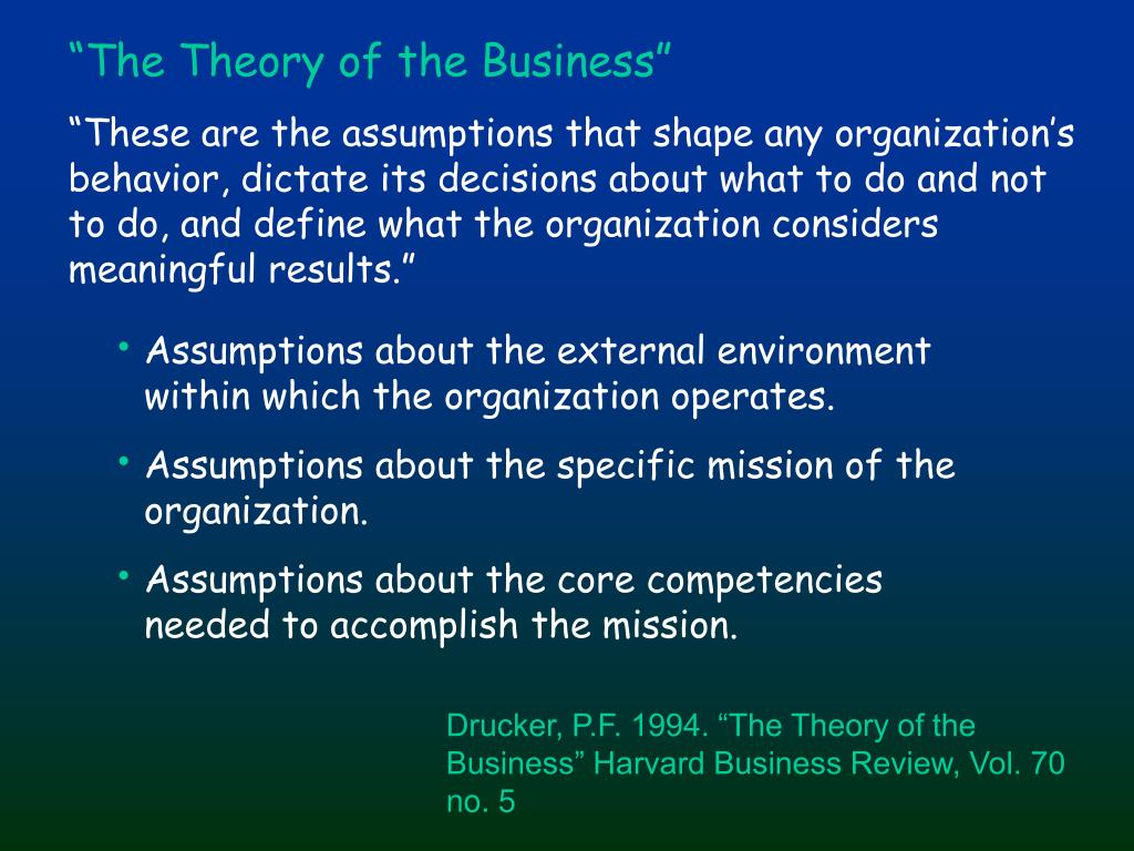 """The Theory of the Business"""