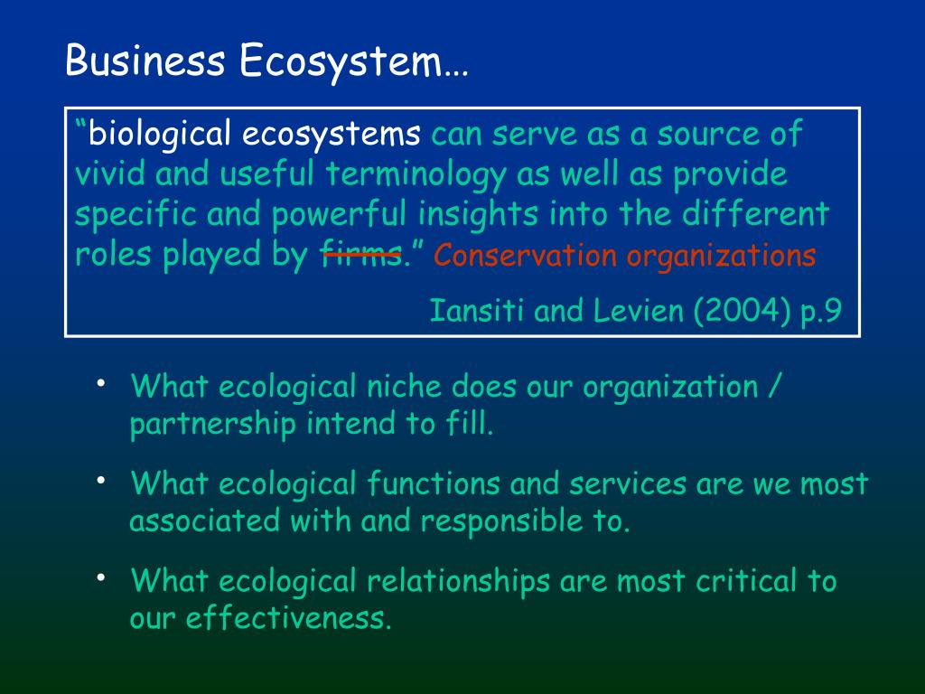 Business Ecosystem…