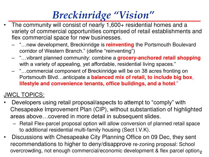 Breckinridge vision