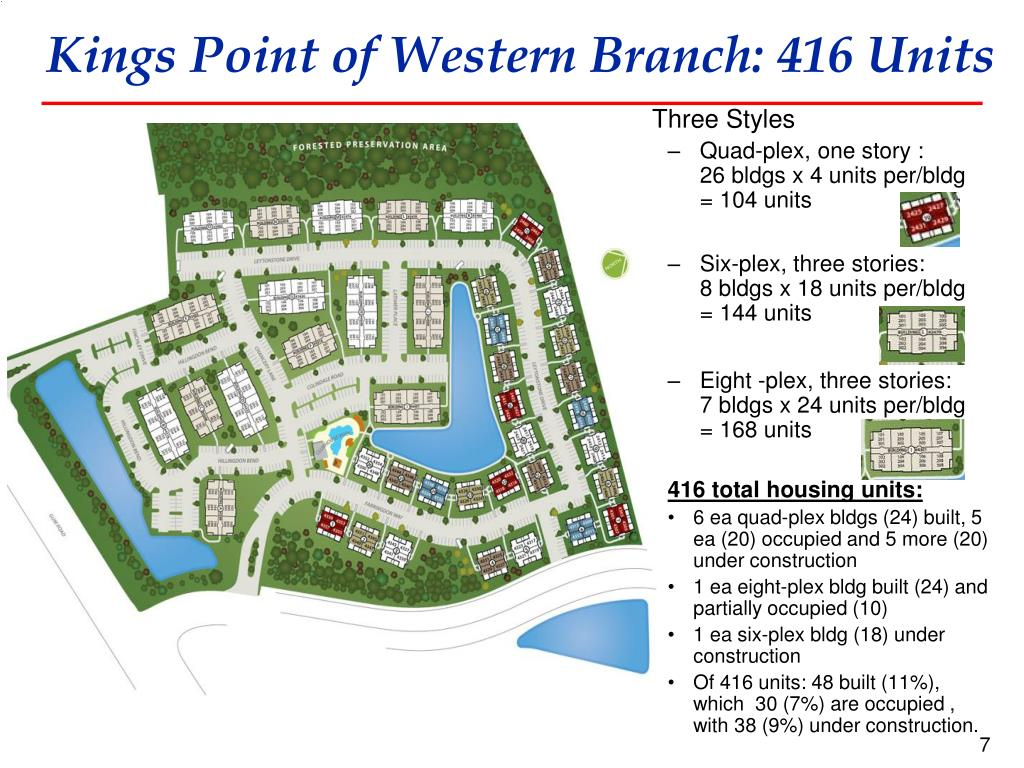 Kings Point of Western Branch: 416 Units