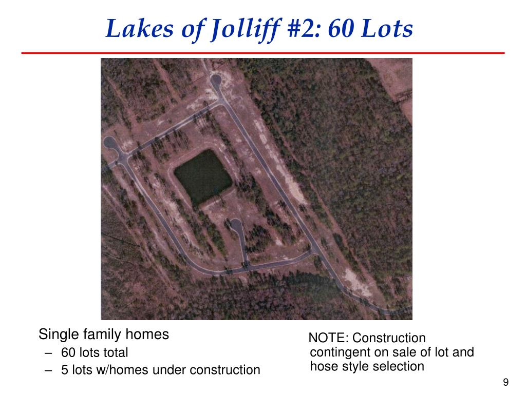 Lakes of Jolliff #2: 60 Lots
