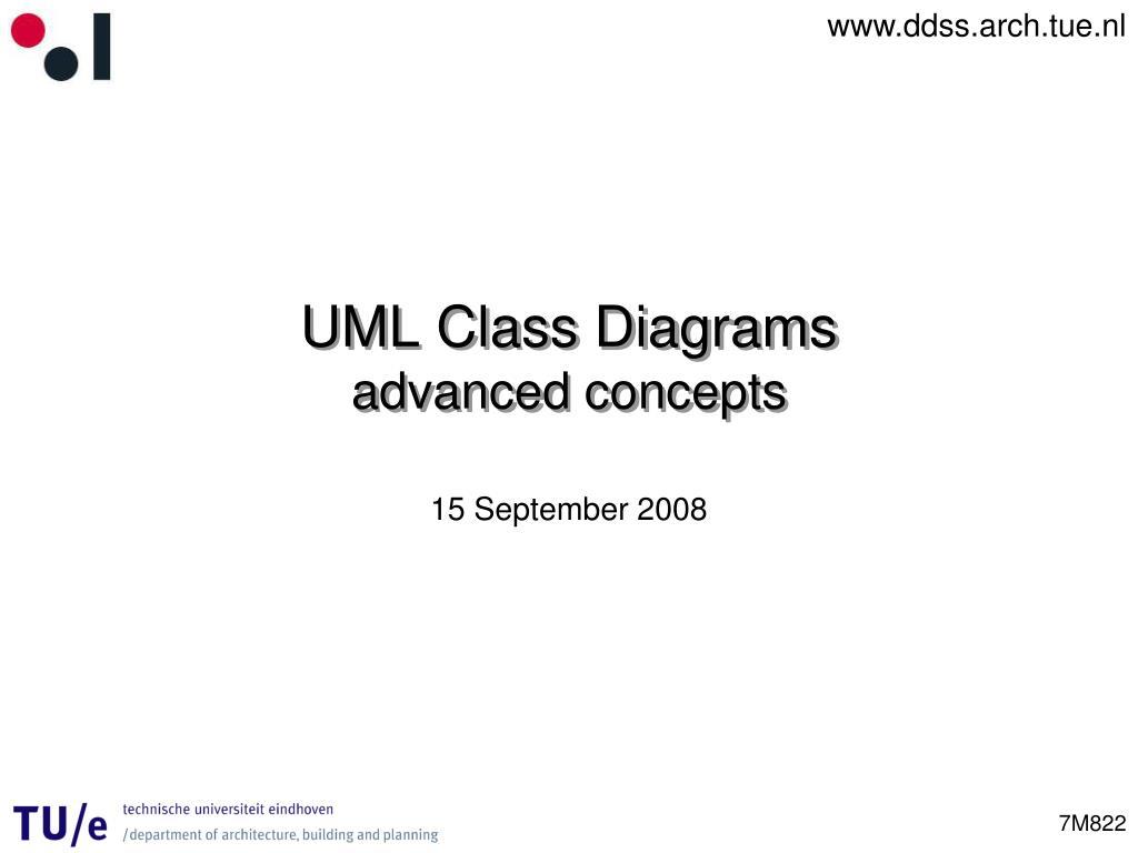 uml class diagrams advanced concepts