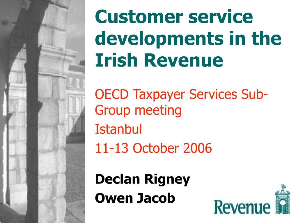 customer service developments in the irish revenue