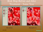 risk map before and after treatment same year