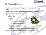 lc payment process