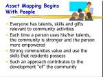 asset mapping begins with people