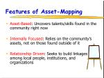 features of asset mapping