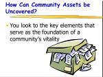 how can community assets be uncovered