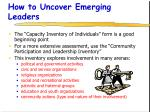 how to uncover emerging leaders