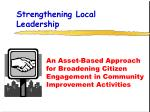 strengthening local leadership