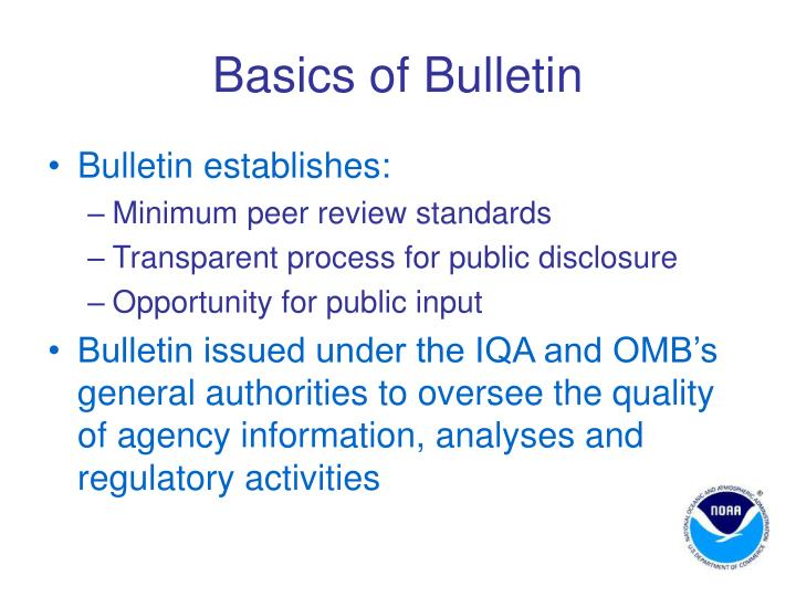 Basics of Bulletin