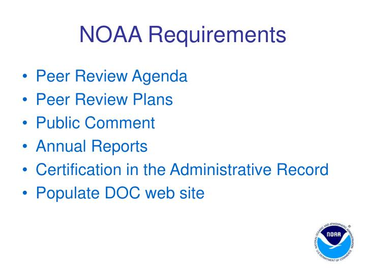 NOAA Requirements