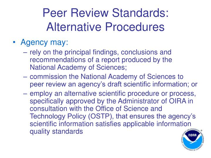 Peer Review Standards: