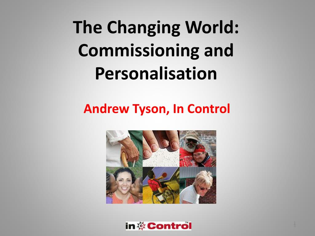 the changing world commissioning and personalisation