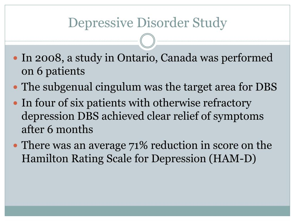 Depressive Disorder Study