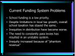 current funding system problems6