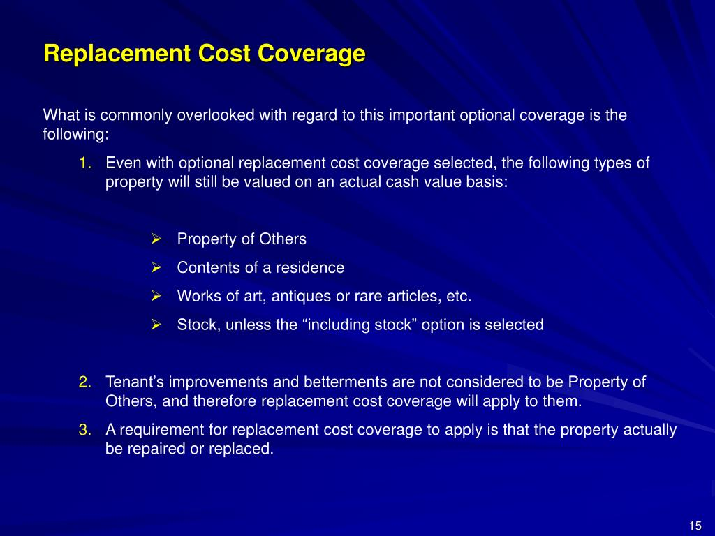 Replacement Cost Coverage