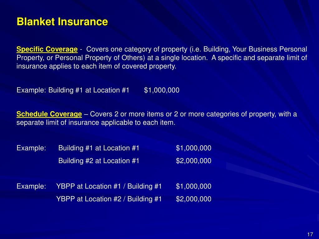 Blanket Insurance