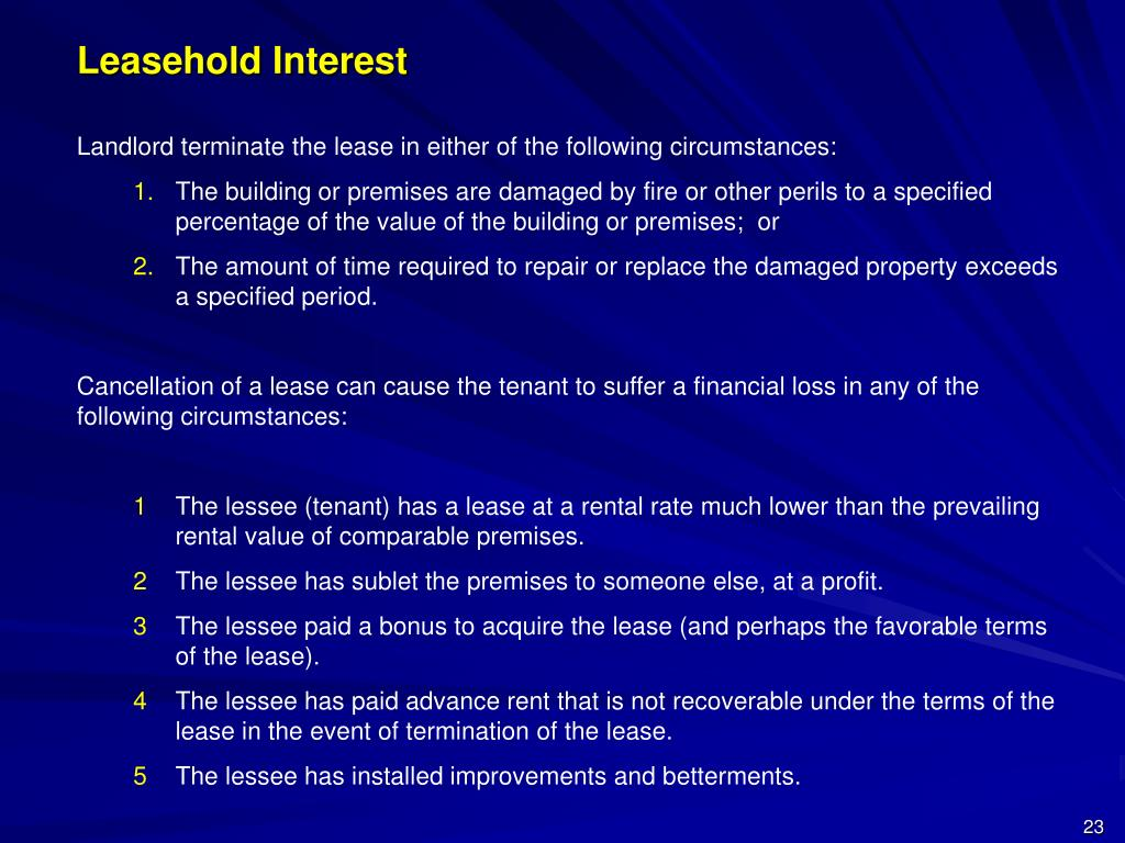 Leasehold Interest
