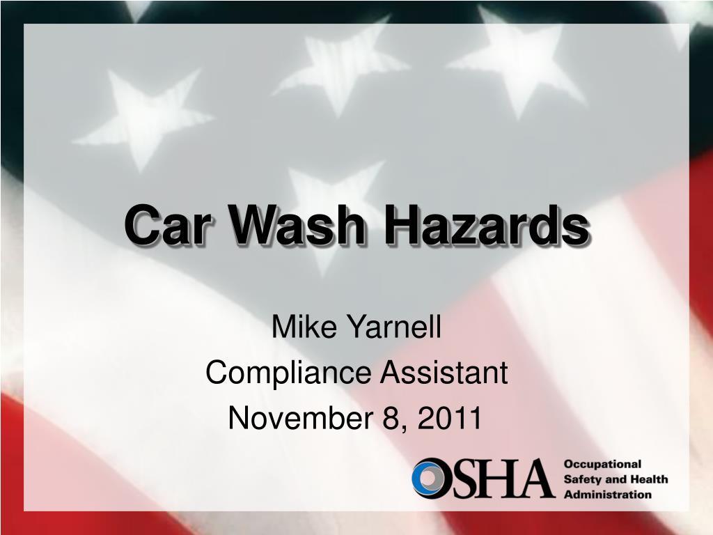 car wash hazards