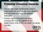 potential chemical hazards