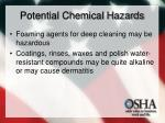 potential chemical hazards11